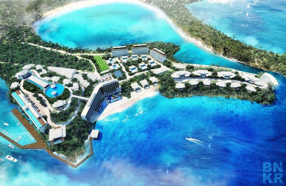 Nuevo Proyecto BNKR: Desarrollo en Antigua  Les compartimos una imagen de un nuevo proyecto que estamos en proceso de desarrollo en la isla de Antigua en el Caribe. Es nuestro primer encargo internacional y por lo mismo estamos muy emocionados. El proyecto es un desarrollo de Hotel, Residencias y Condominios en un sitio privilegiado en una punta en la parte norte de la isla con playa, acceso a una laguna y una marina. Mas información pronto