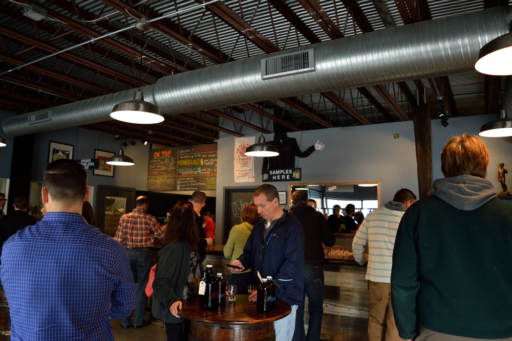 View of the taproom from inside NEBCO