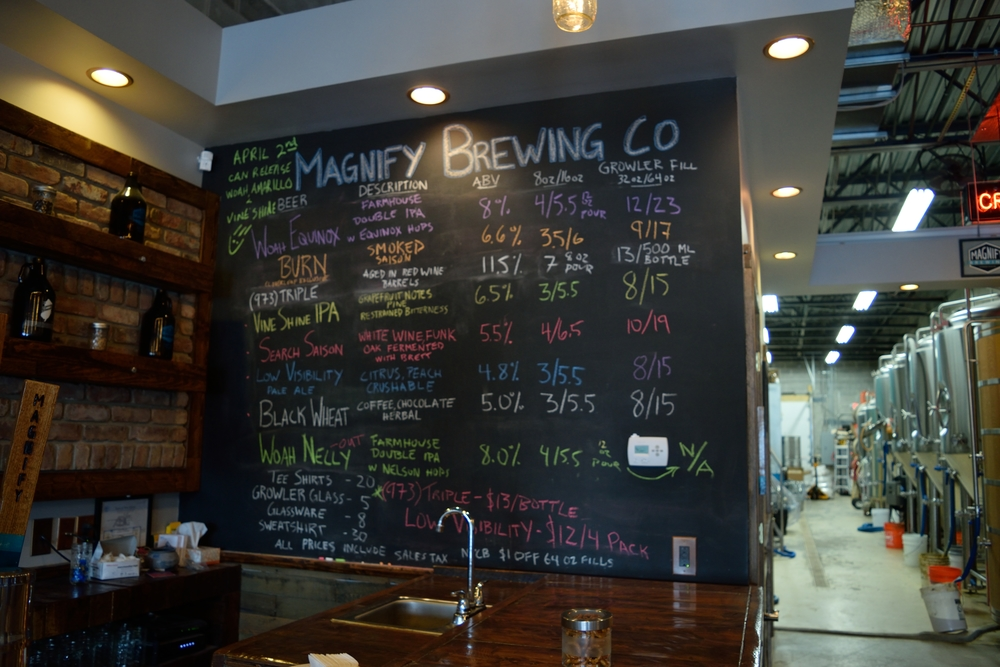 This is where I say something clever about their tap list. If you ever go, take a look at the detail in writing out Magnify Brewing Co... it'll blow your mind. Trust me.