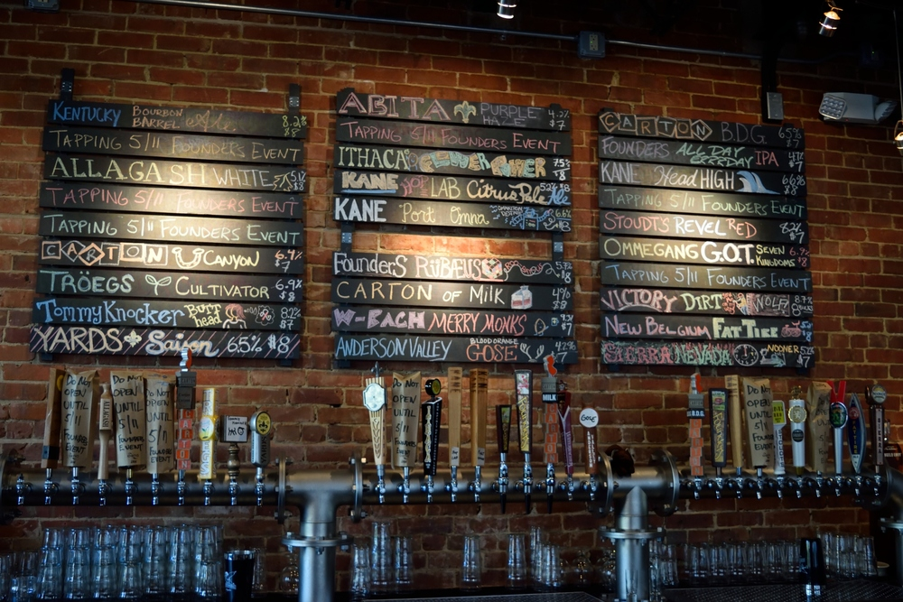 Always an incredible craft beer selection on draft.