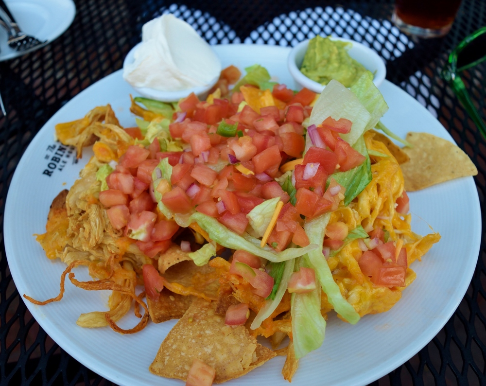 The chicken nachos, although visually appealing, they were slightly disappointing this time.