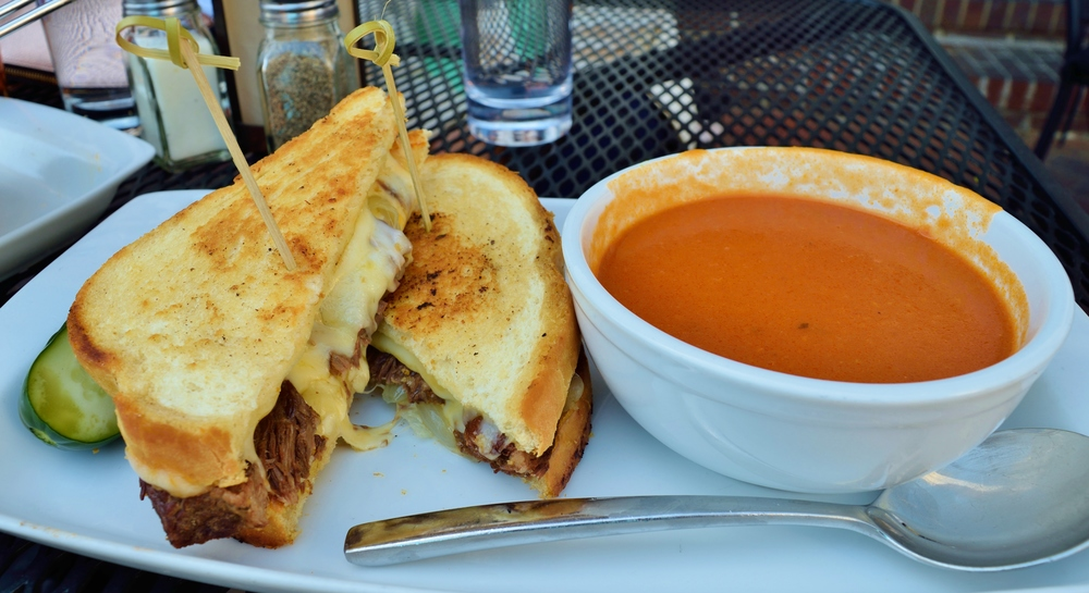 Short Rib grilled cheese with tomato soup - it was great!