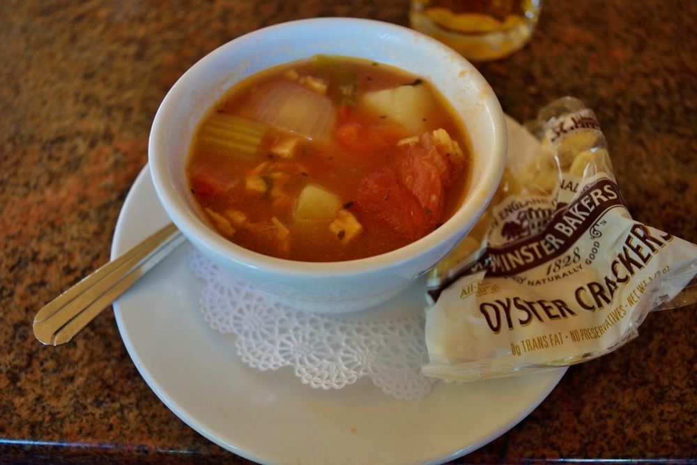 Manhattan Clam Chowder.