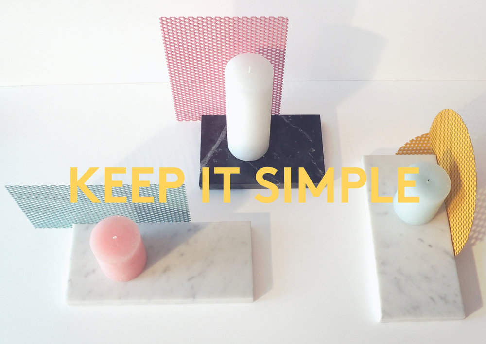 Keep it simple - bougeoirs