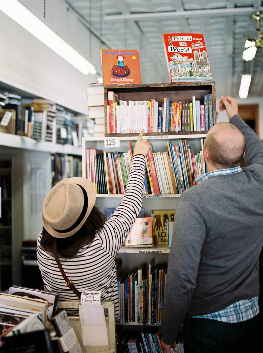 nashville documentary bookstore record shop engagement session relaxed film photographer ©2016abigailbobophotography-2.jpg