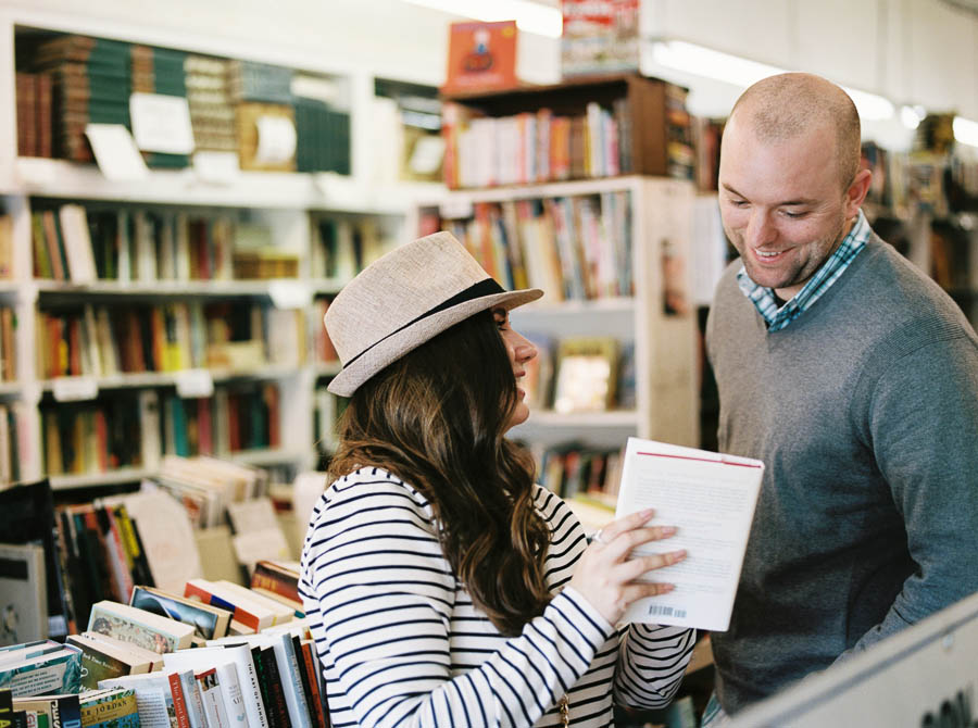 nashville documentary bookstore record shop engagement session relaxed film photographer ©2016abigailbobophotography-5.jpg