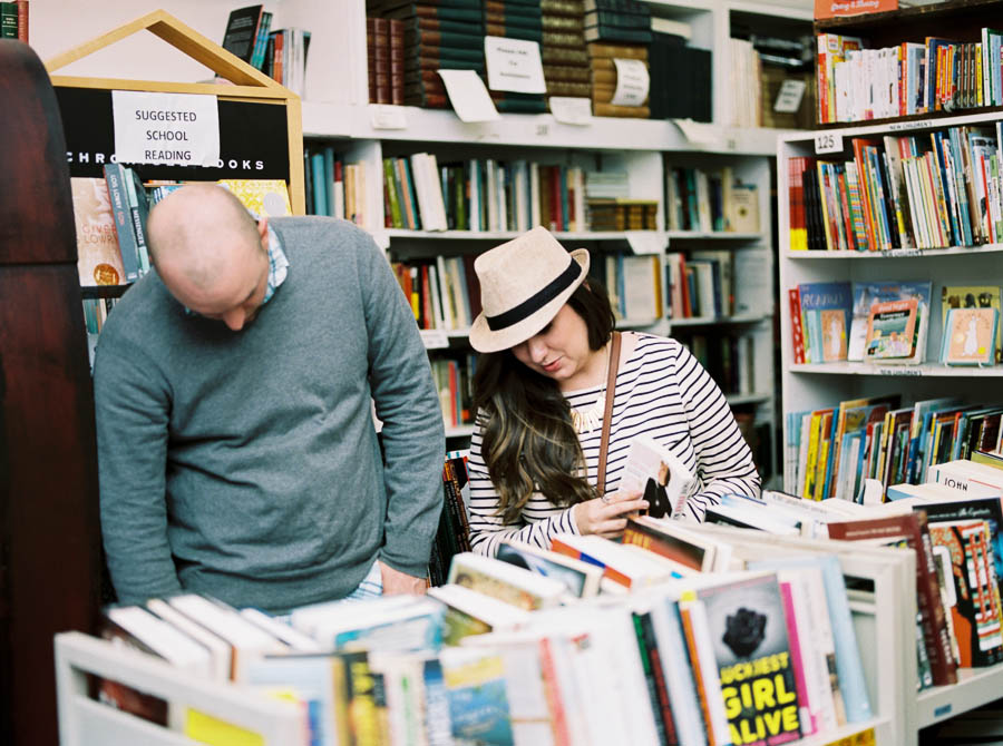 nashville documentary bookstore record shop engagement session relaxed film photographer ©2016abigailbobophotography-6.jpg