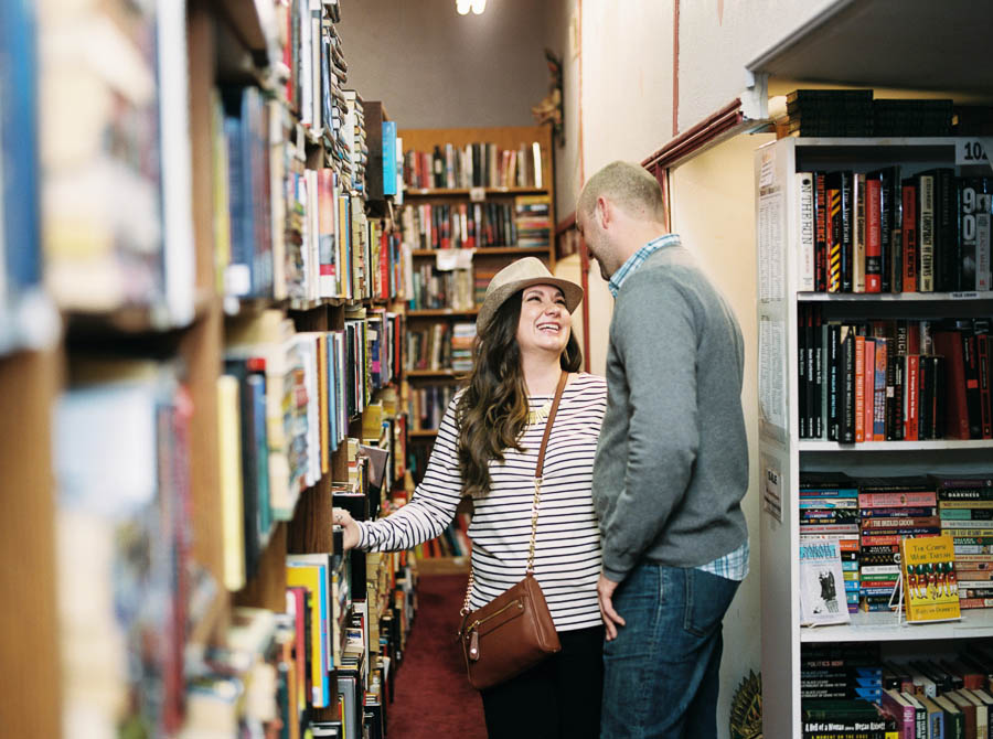 nashville documentary bookstore record shop engagement session relaxed film photographer ©2016abigailbobophotography-8.jpg