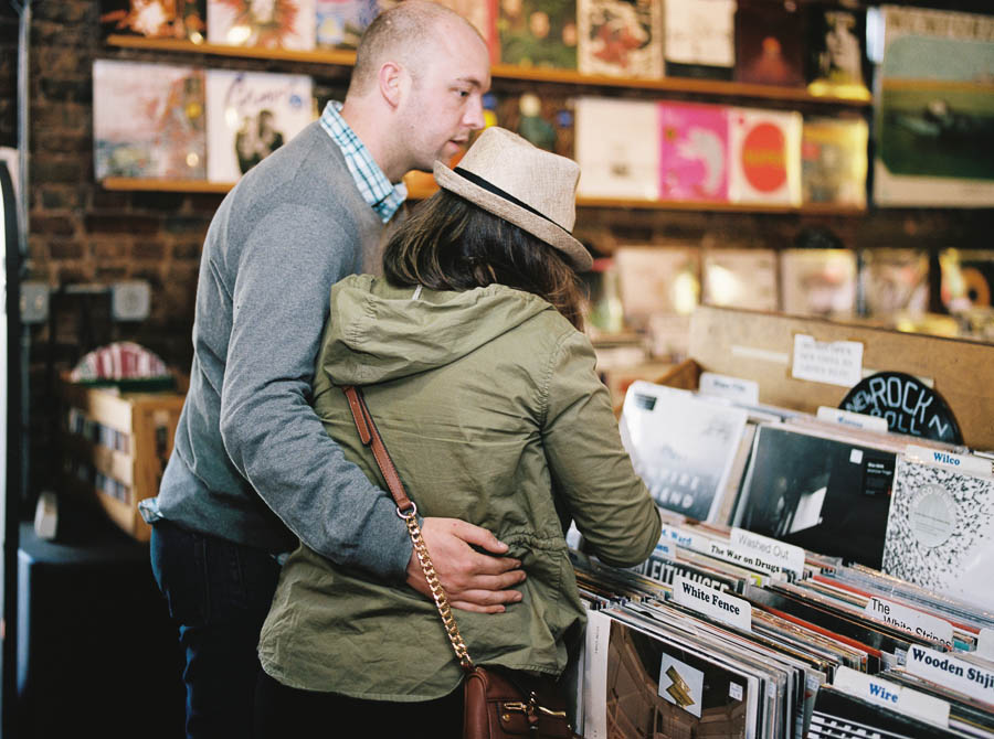 nashville documentary bookstore record shop engagement session relaxed film photographer ©2016abigailbobophotography-16.jpg