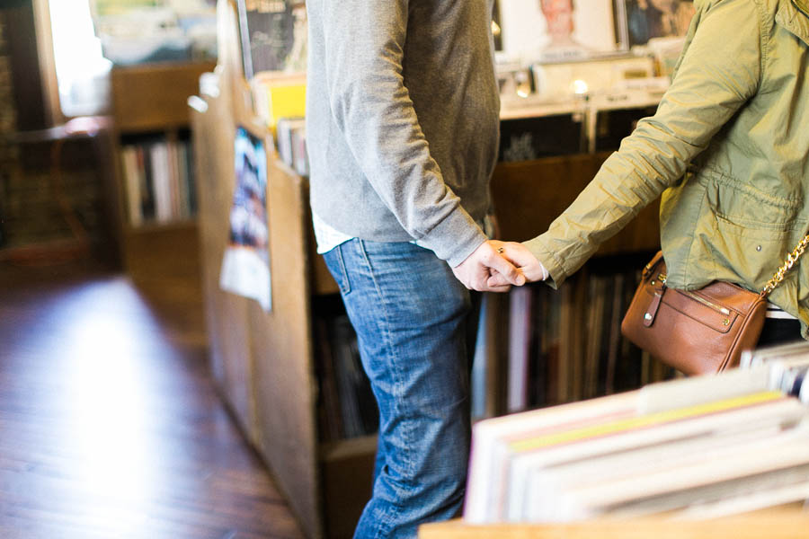 nashville documentary bookstore record shop engagement session relaxed film photographer ©2016abigailbobophotography-17.jpg