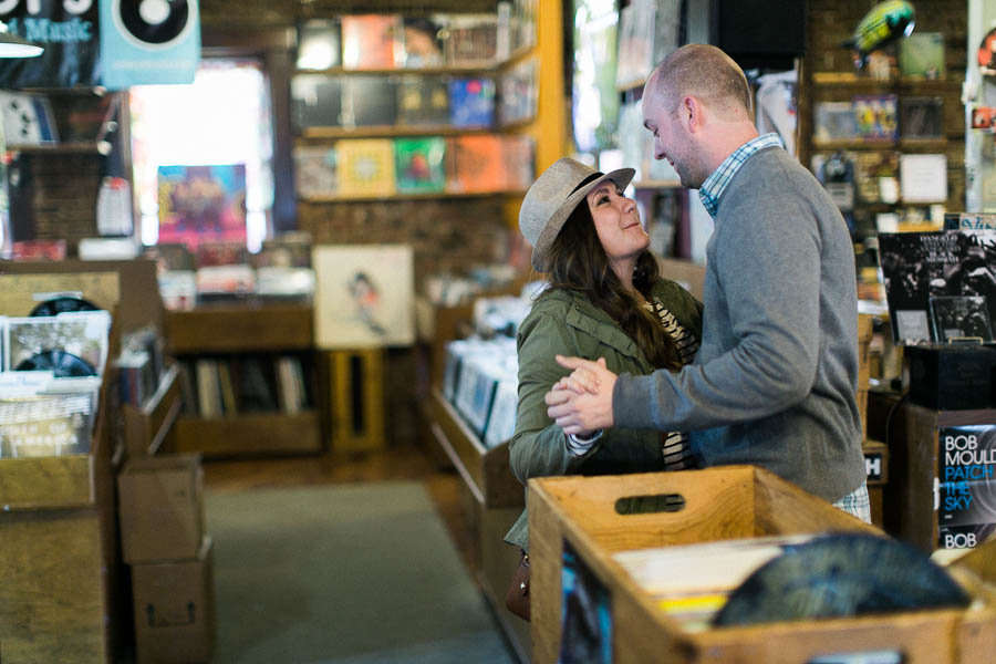 nashville documentary bookstore record shop engagement session relaxed film photographer ©2016abigailbobophotography-18.jpg