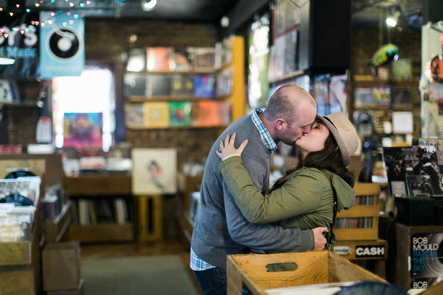 nashville documentary bookstore record shop engagement session relaxed film photographer ©2016abigailbobophotography-19.jpg