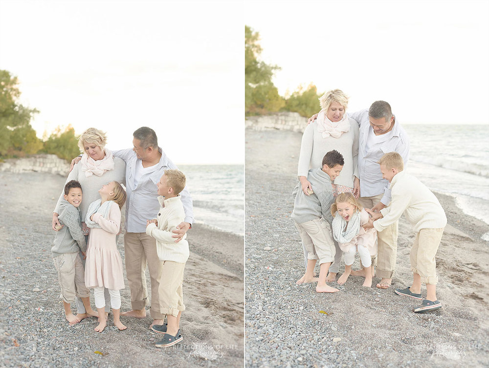 neutral coloured clothing family photography niagara region of ontario