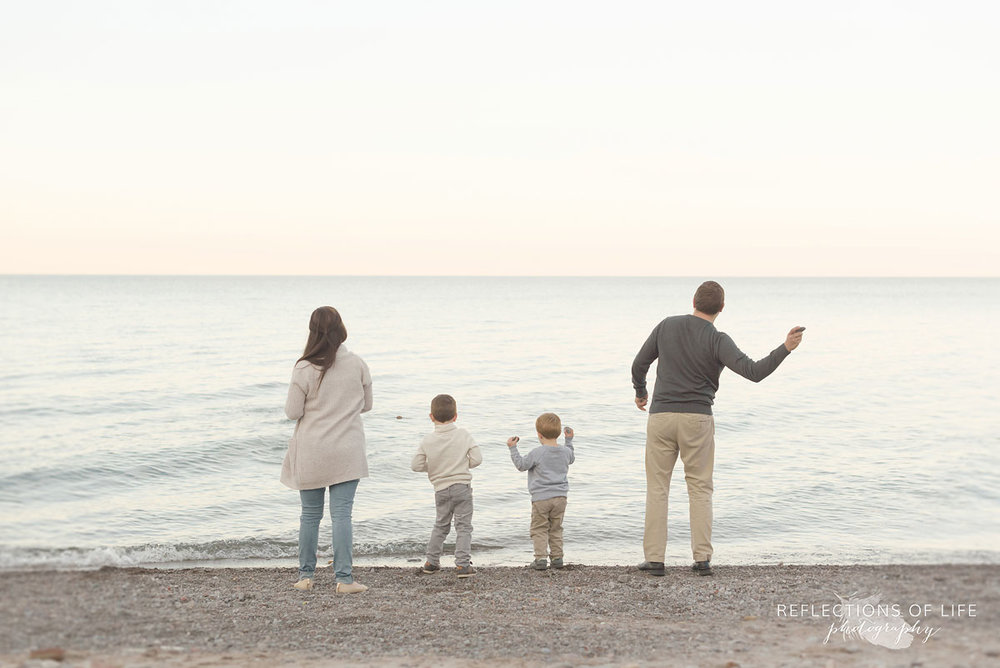 natural light family photography at sunset grimsby ontario