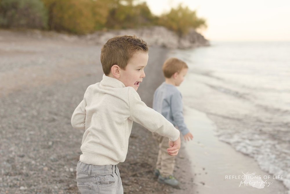 natural light family photography at sunset southern ontario