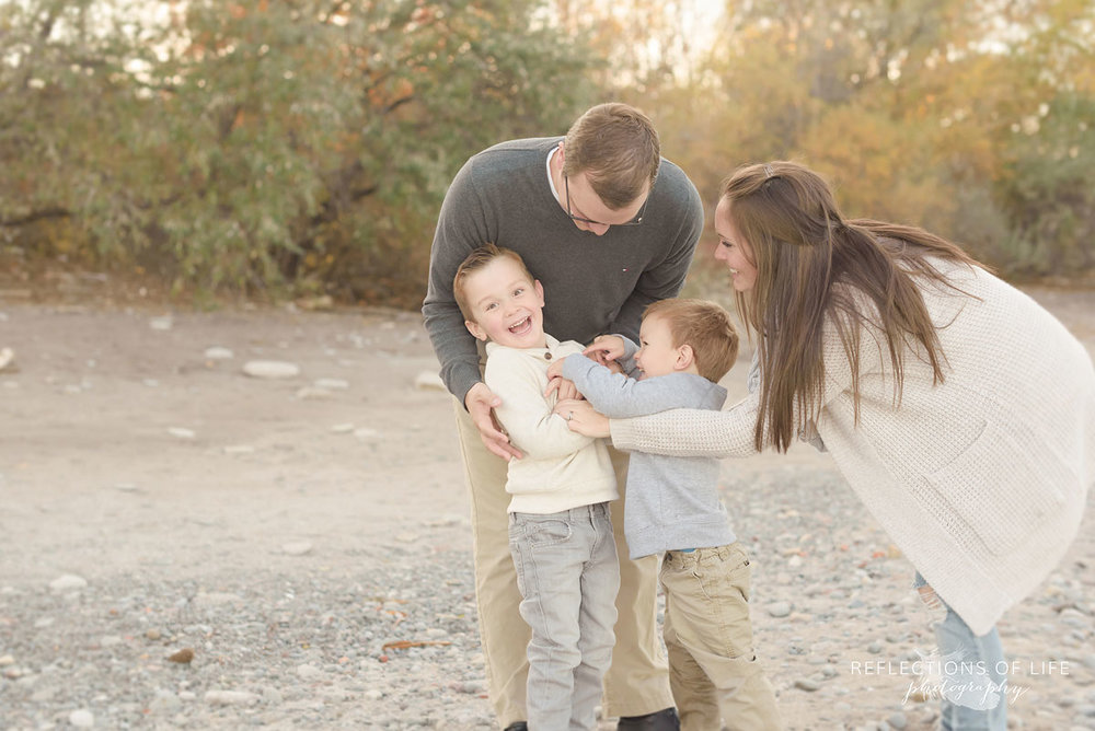 meaningful, emotional family photographs at sunset southern ontario