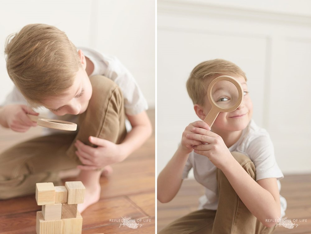 natural light studio children's photography