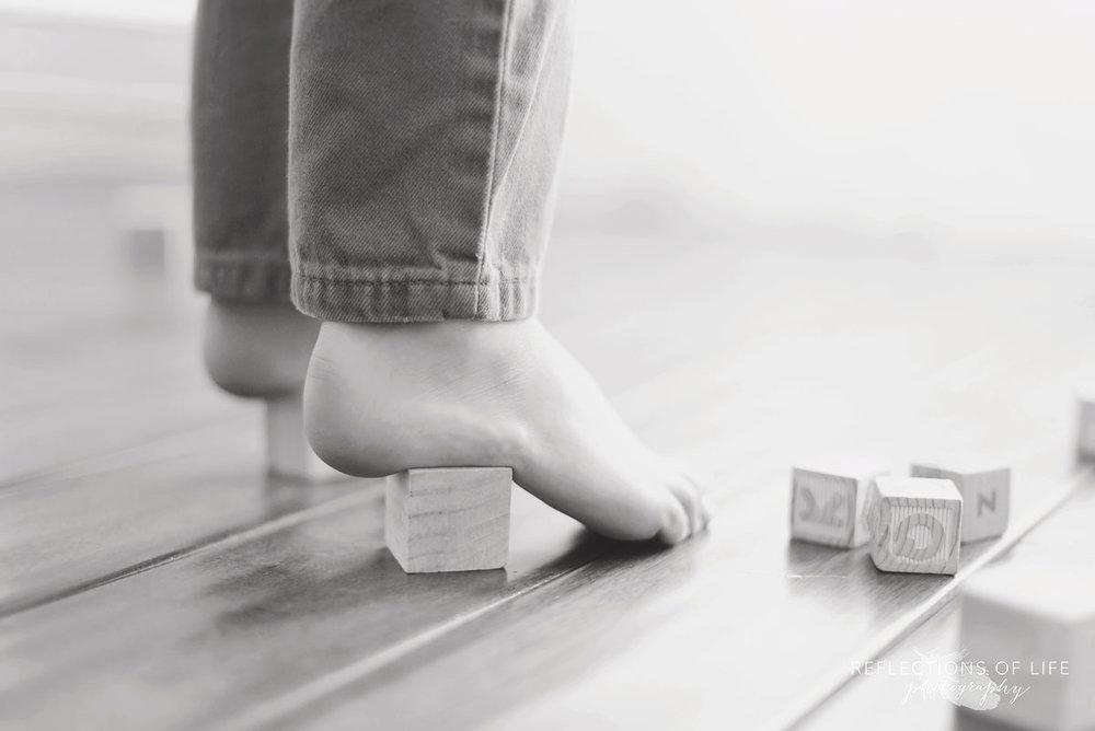 wood block high heels fun child photos niagara region ontario canada