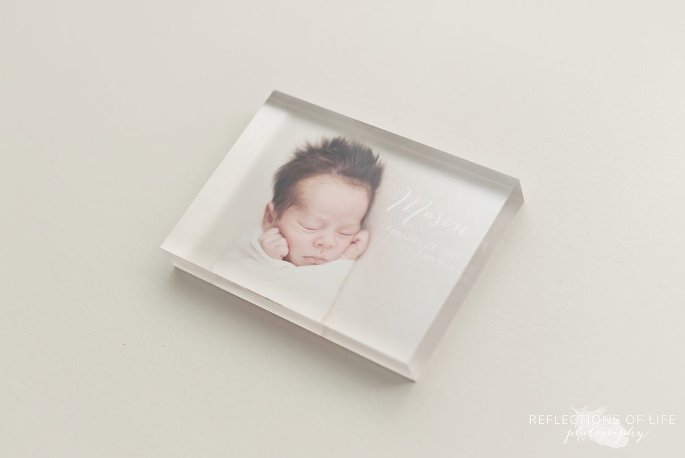 003 Newborn Photo Acrylic Block by Karen Byker of Reflections of Life Photogarphy