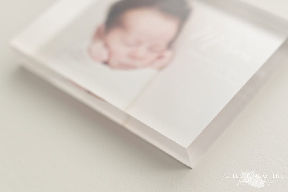 004 Newborn Photo Acrylic Block by Karen Byker of Reflections of Life Photogarphy