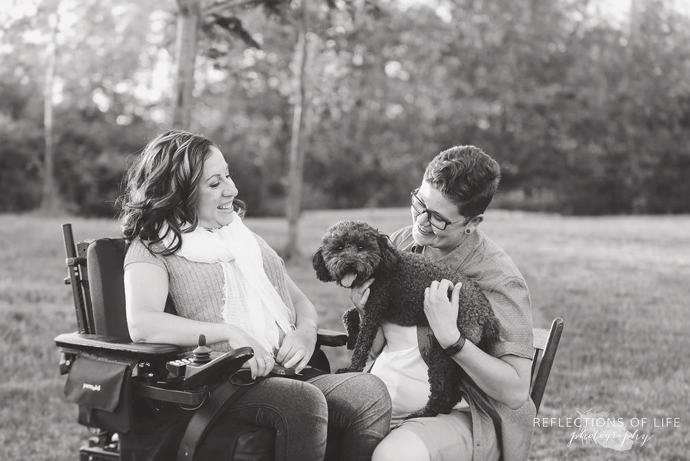 008 Professional Grimsby family photography with caregiver and patient in wheelchair