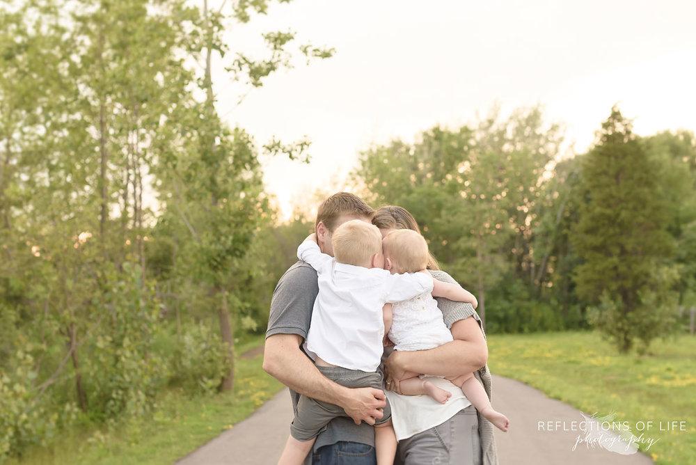 005 Niagara Family Photos Group Hug on a path in the park