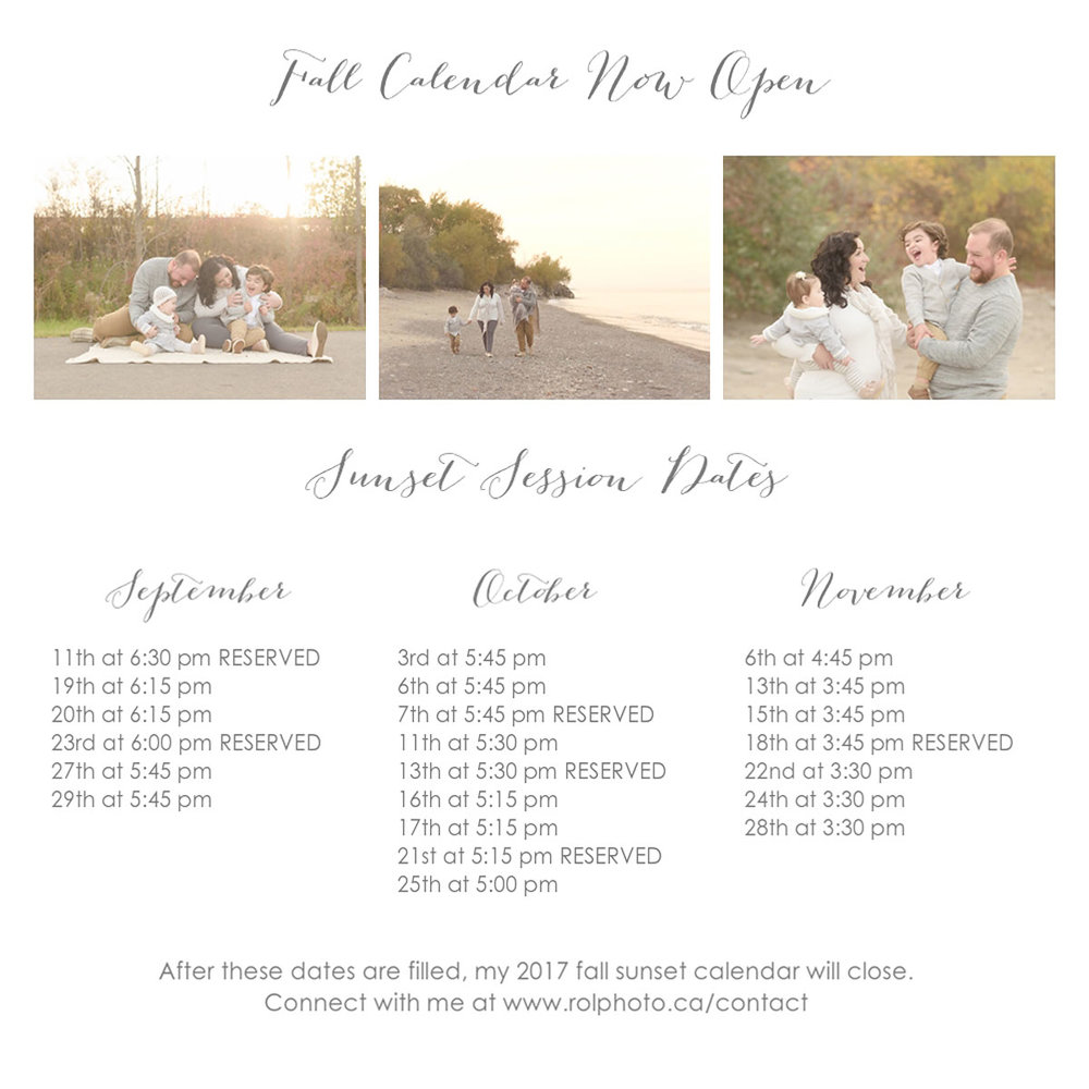 Fall Family Sunset Sessions - 2017