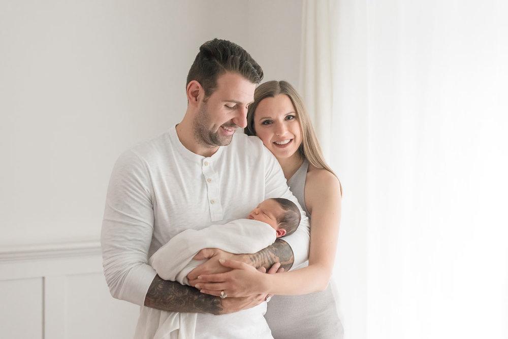 Newborn family portrait Niagara Ontario Canada