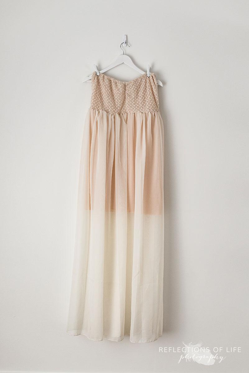 Cream Strapless Dress