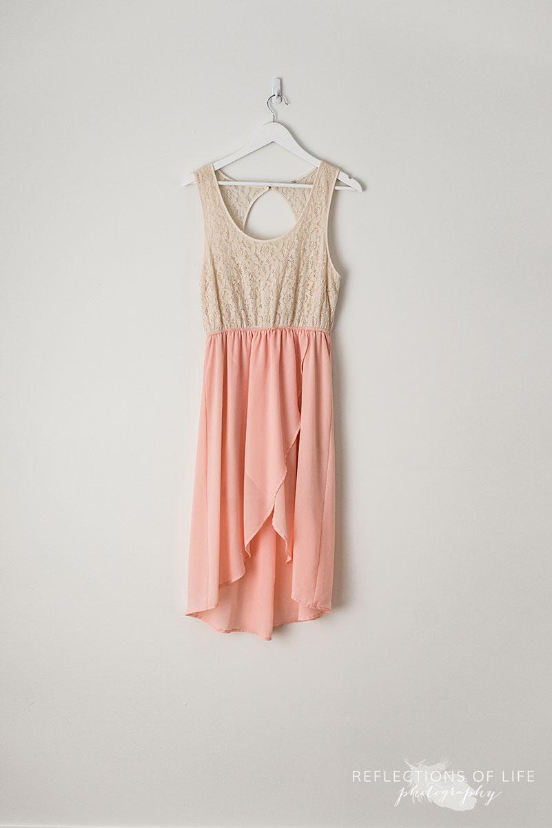 Cream & Pink Dress