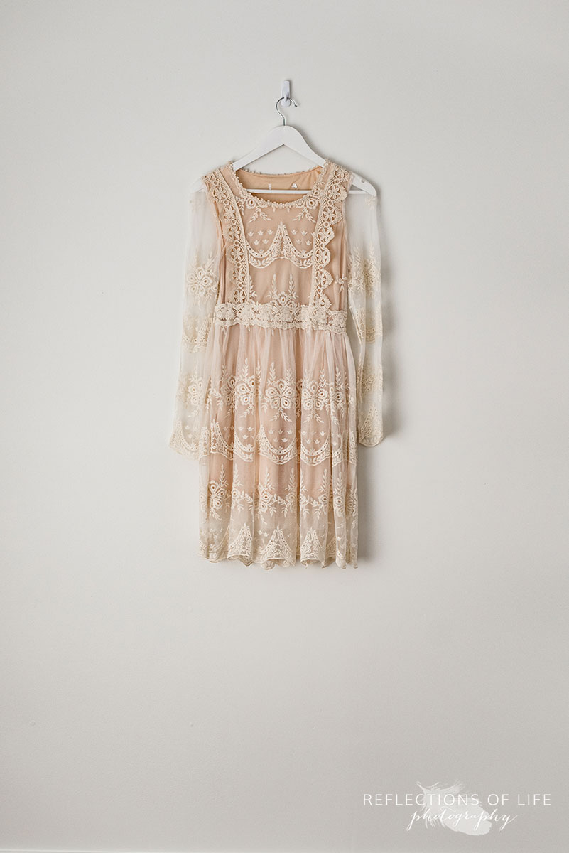 Cream Longsleeve Lace Dress