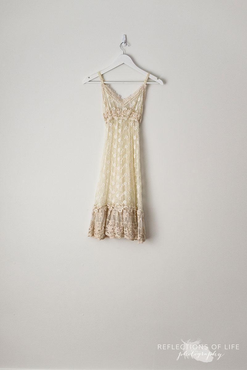 Cream Sheer Lace Dress