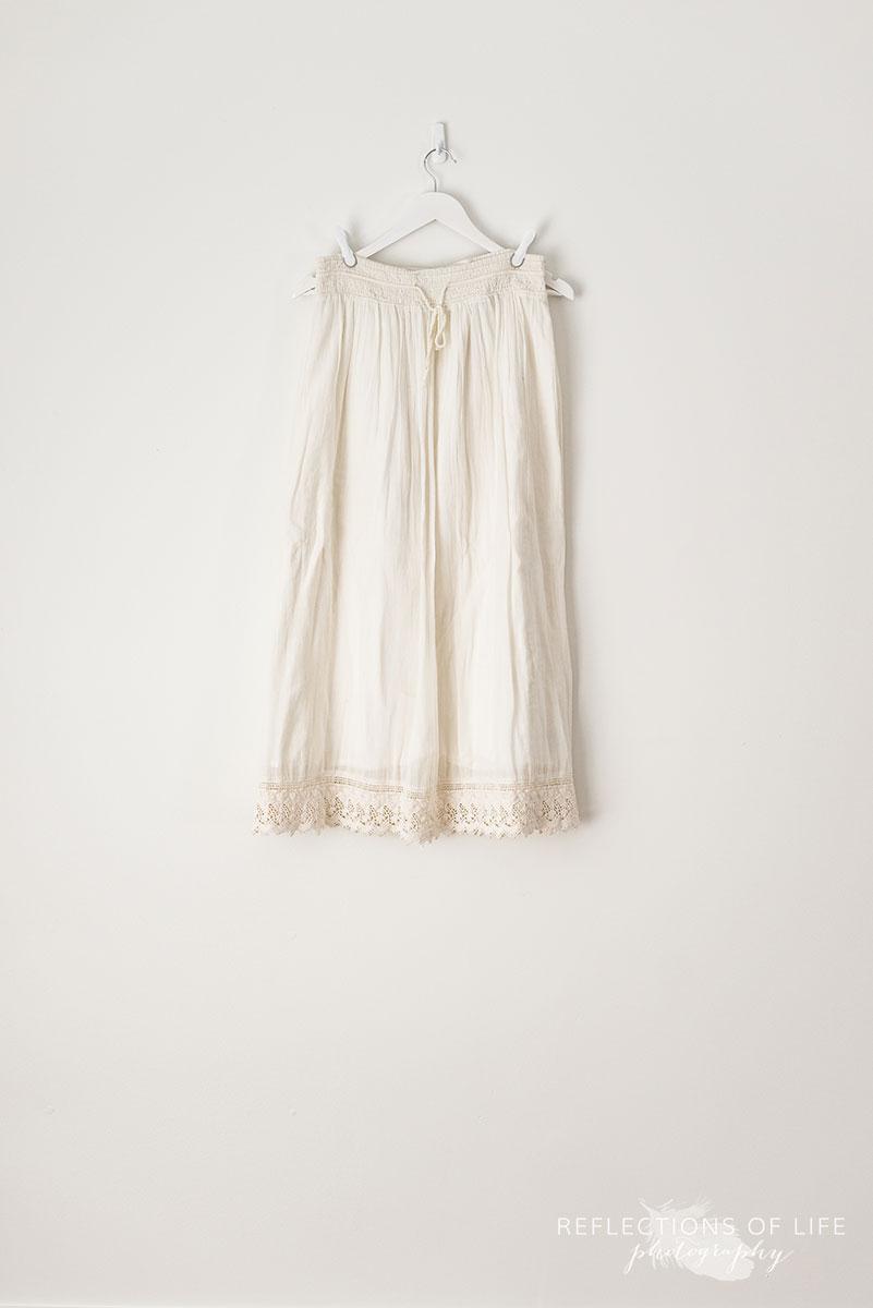 Cream Peasant Skirt