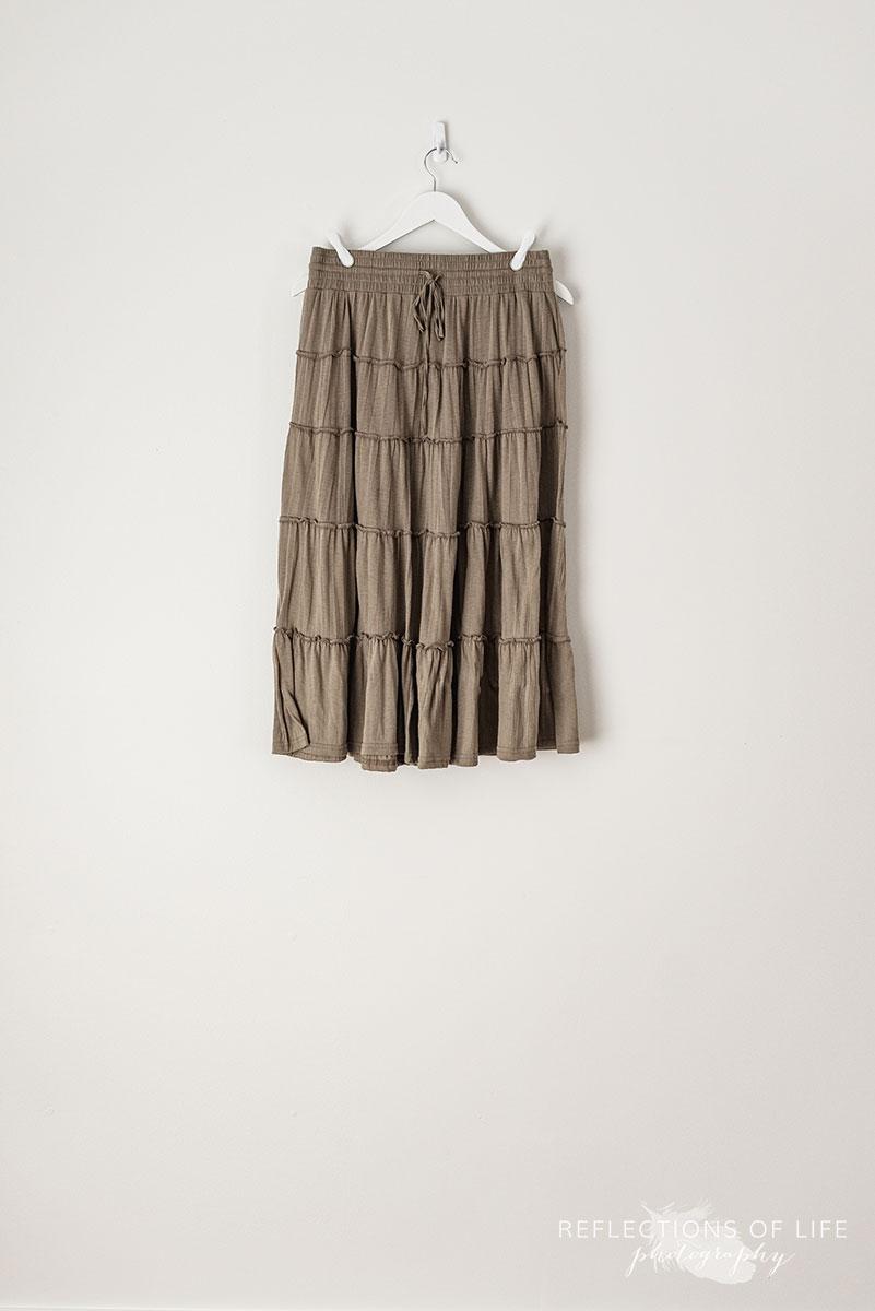 Greige Peasant Skirt