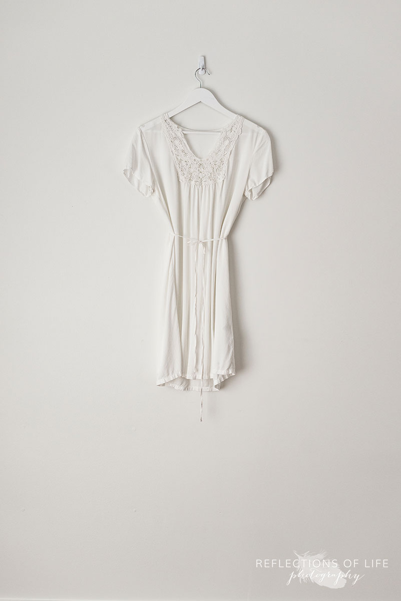 White Cotton Lace Detail Dress