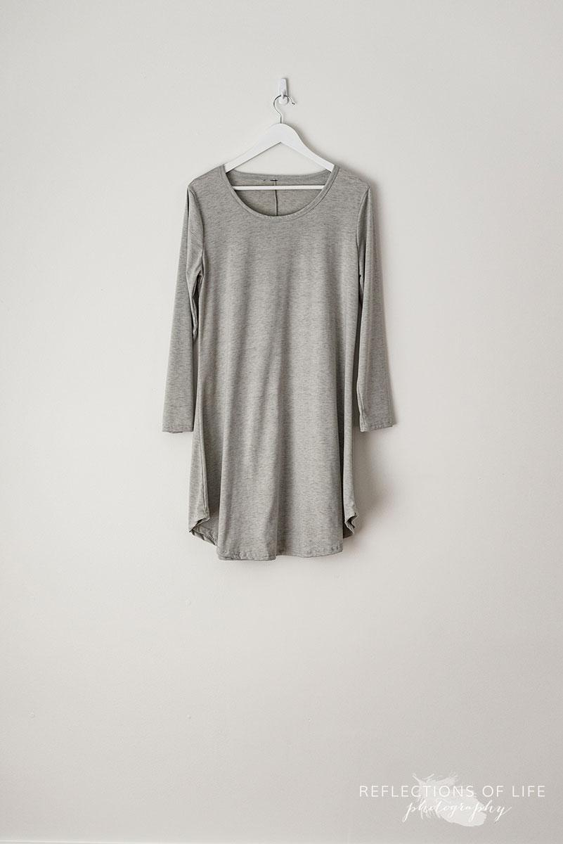 Light Grey Long Sleeve Tunic Top