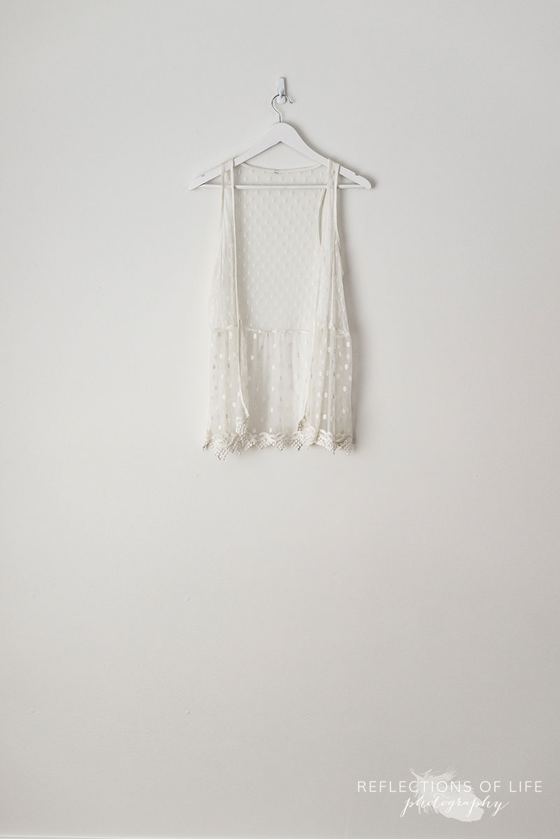 White Sheer Lace Vest
