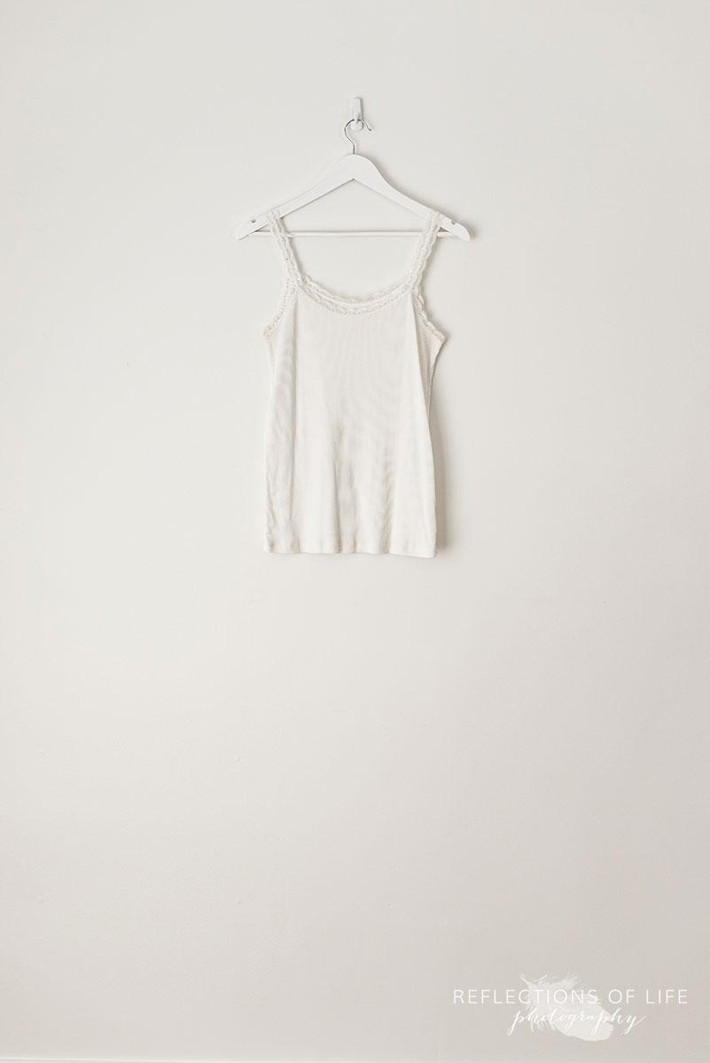 White Lace Strap Tank