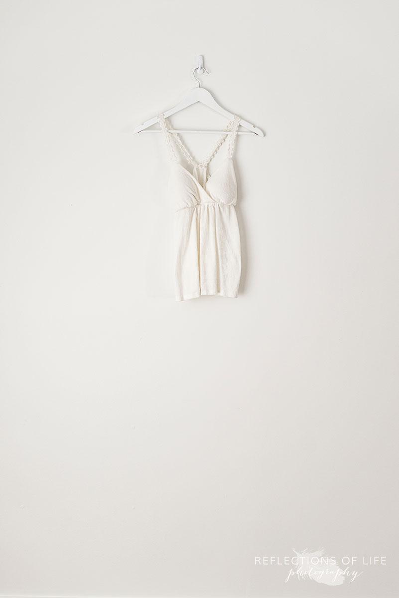 White Butterfly-back Lace Strap Tank