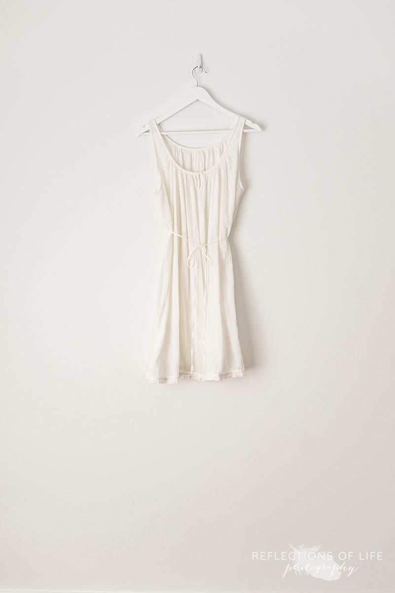 White LinenTank Dress