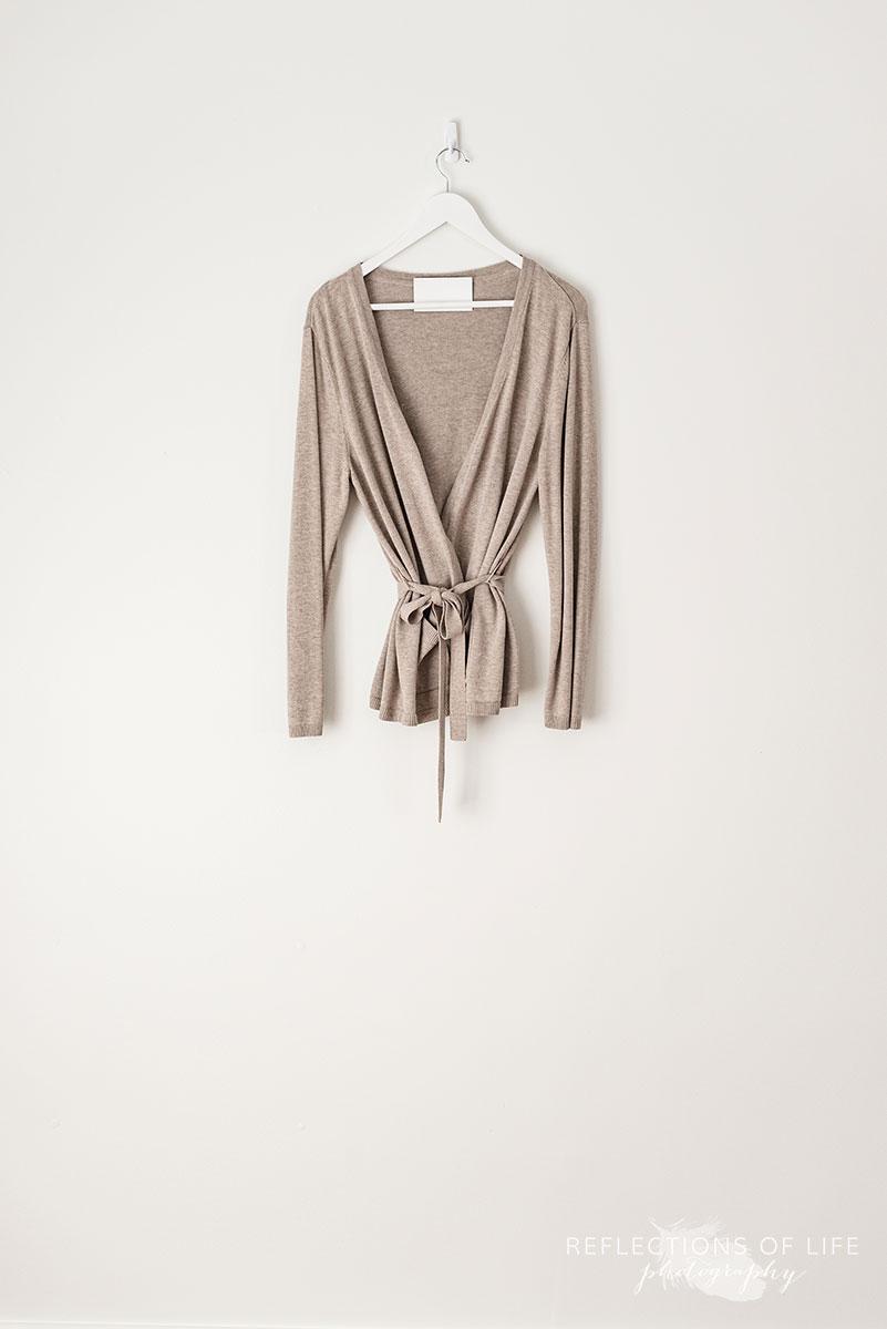 Greige Wrap Sweater