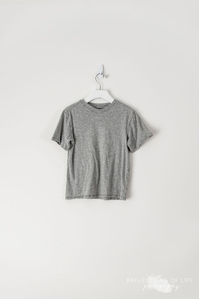 Medium Grey V-Neck T-Shirt