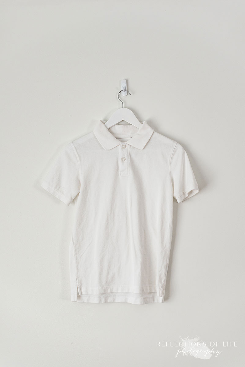White Shortsleeve Golf Shirt