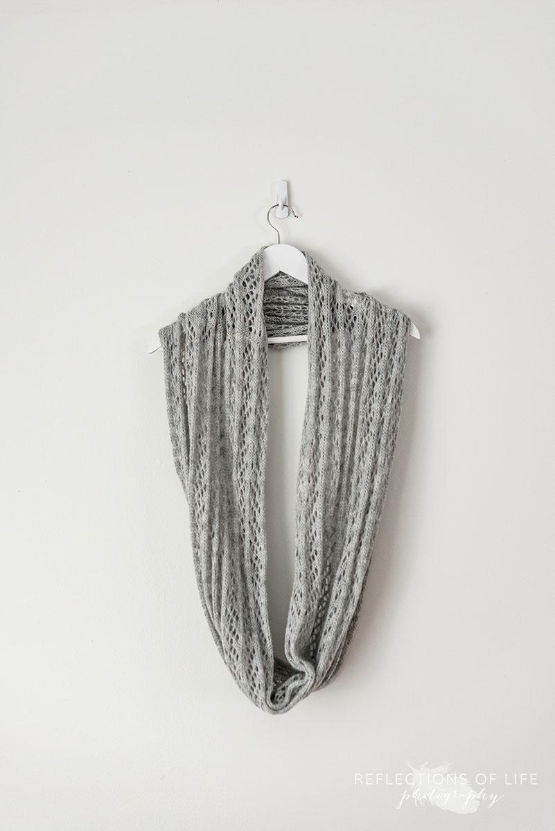 Light Grey Infinity Scarf