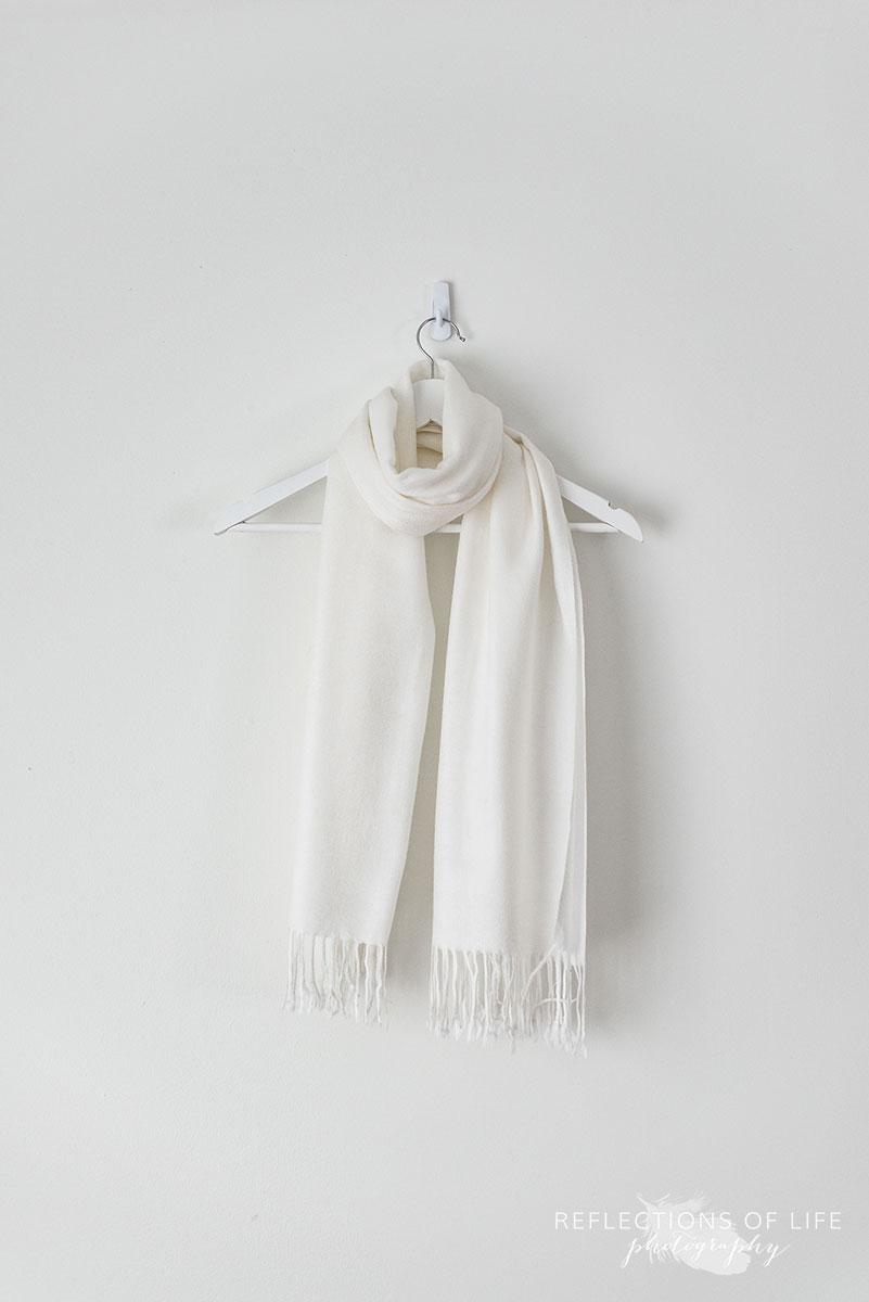 White Linen Scarf