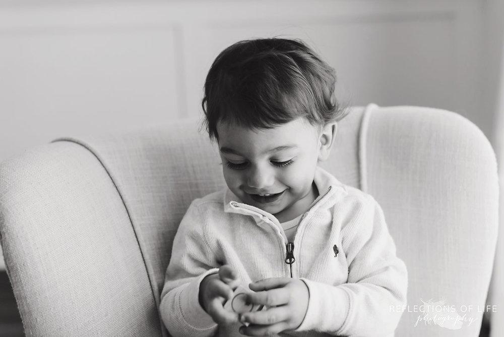 Young boy playing with blocks niagara photo studio