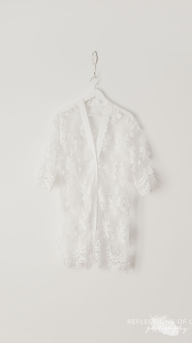 White Sheer Floral Overshirt M-L