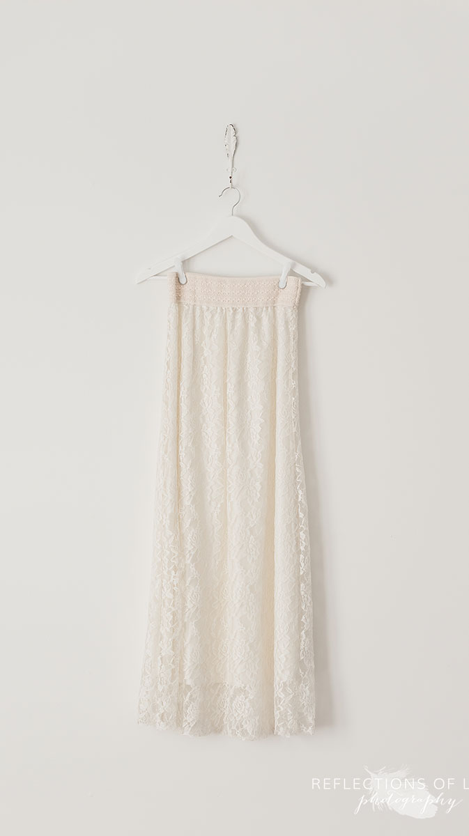Cream Lace Skirt S-L