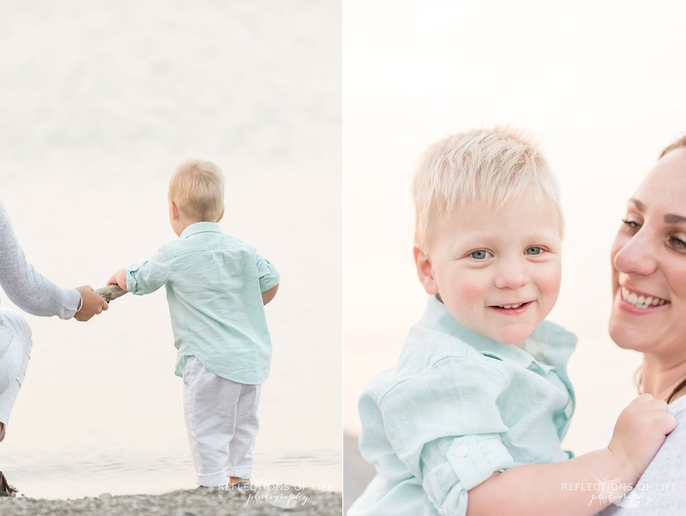Beach photography for young families