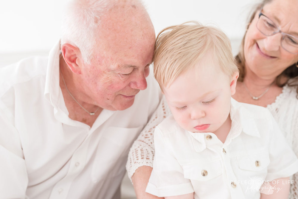Family photography grandparents and grandson